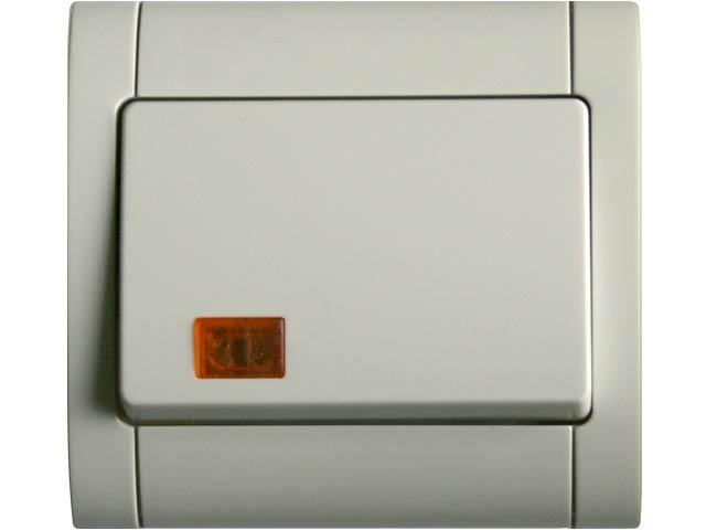 شراء Interrupteur bouton poussoir à voyant Domelec Ithri