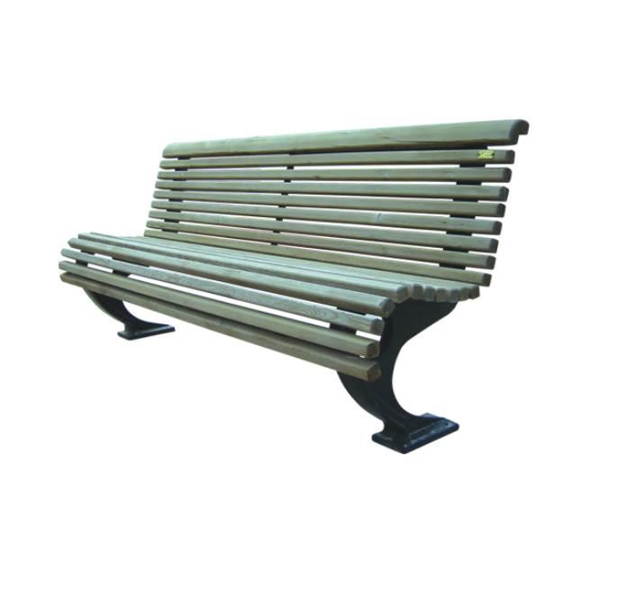 شراء Banc urbain aluminium et bois MS045
