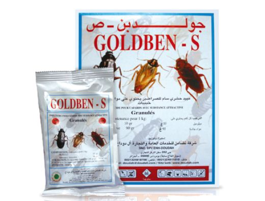 Insecticide pour cafards Goldben-S GR