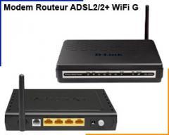 Modem Routeur Adsl2/2+ wifi g/lan port x 4