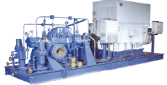 Axially split multi-stage process pump