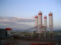 Plant Capacity: 120 m3/hour compacted concrete