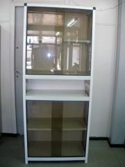 Armoire bibliothéque Cammo Vitrée en Aluminium