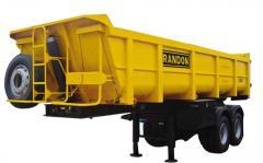 Semi-Remorque Benne Entrepreneur Randon 20 M3