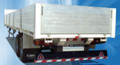 Semi-Remorque Plateau a deux essieux a ridelle en