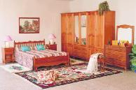 Chambre à coucher modulaire sculptée 6 portes