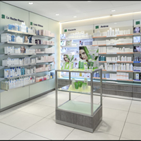 Agencement pharmacie moderne